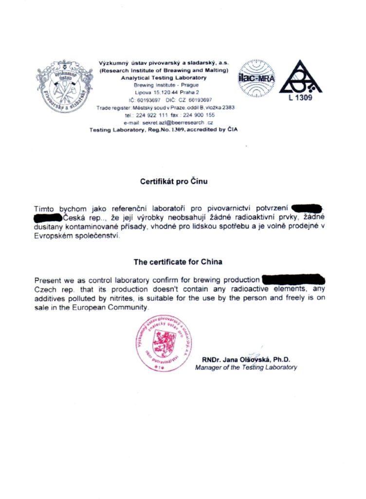 Falešný Certifikat VUPS